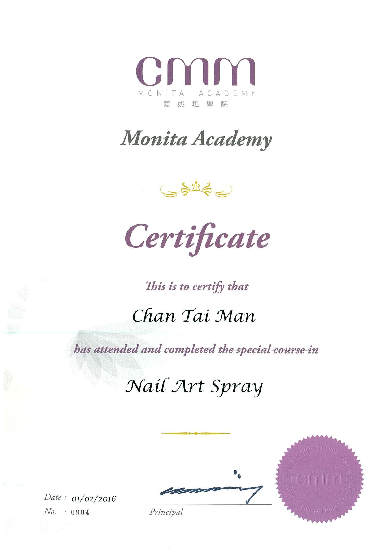 CMM蒙妮坦學院專業指甲噴藝證書