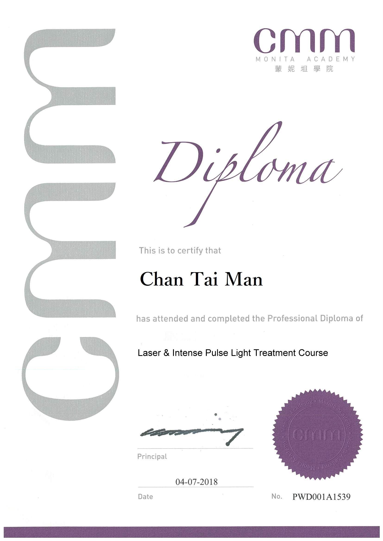 CMM Diploma in Laser _ Intense Pulse Light Treatment Course