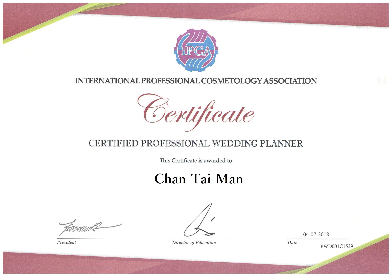 IPAC professsional wedding planner