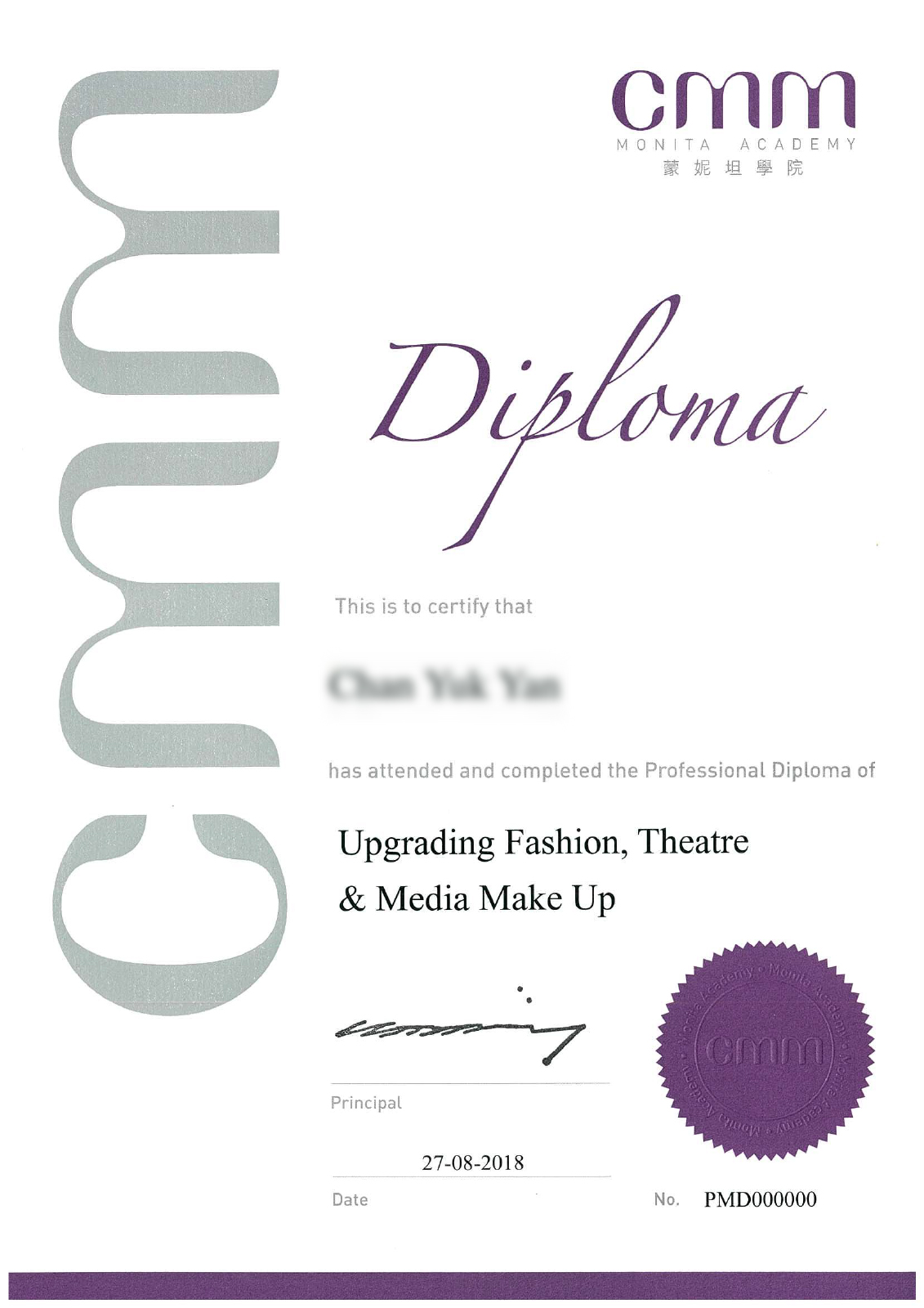 進階國際專業時裝、舞台、媒體化妝師⽂文憑