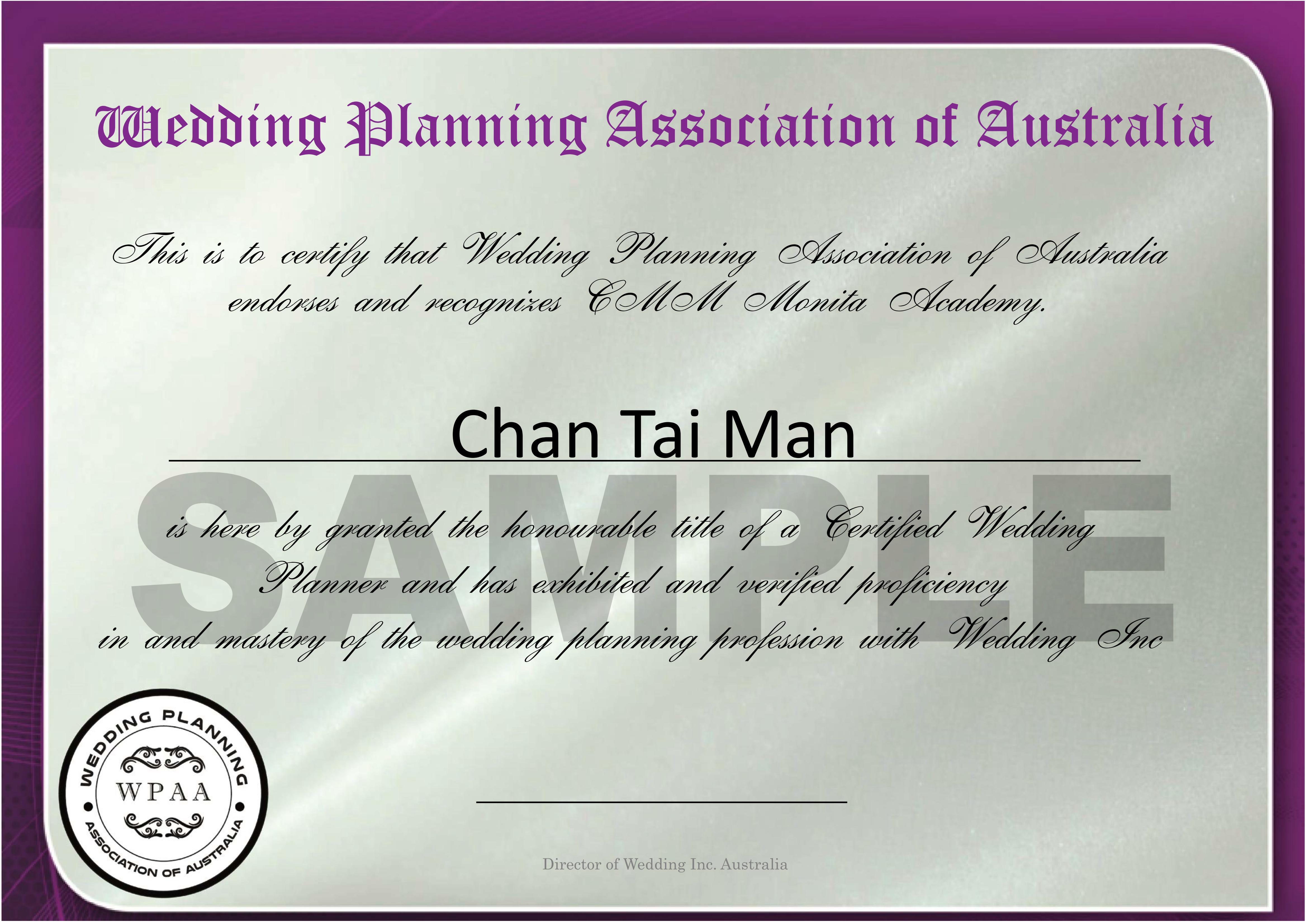 AUSTRALIA CERT (Wedding)
