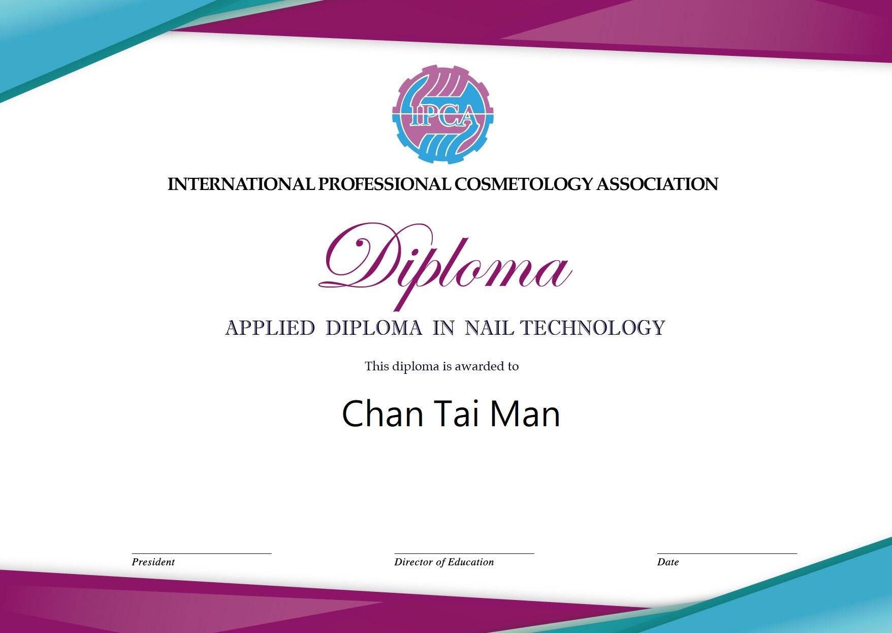 IPCA Nail Diploma